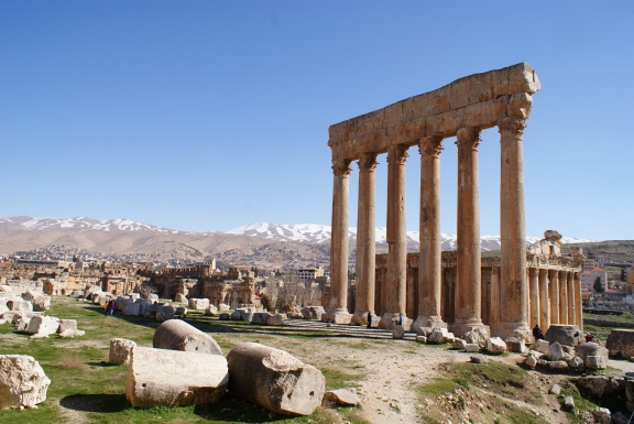 Temples of Jupiter (foreground) and Bacchus, Baalbek