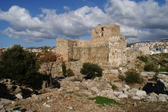 The Crusader Fortress which overlooks the ancient city of Byblos (Jbeil).