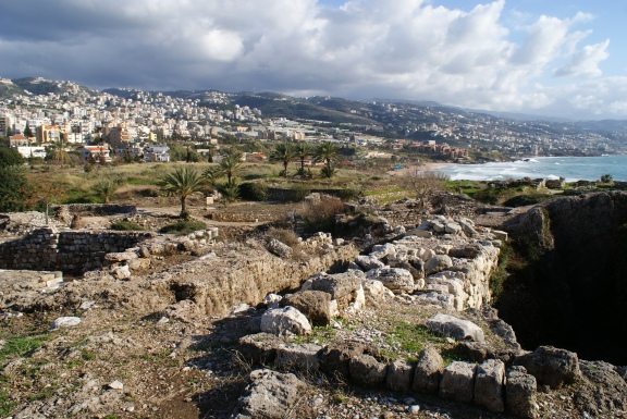 The ruins of the Phoenician city of Byblos