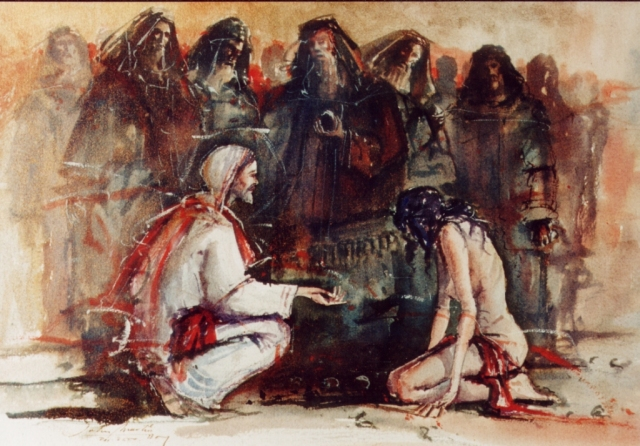 Adulterous woman 02